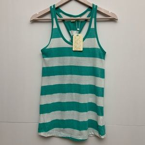 BEACH BY EXIST Striped Tank Top